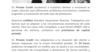 Private Credit, consigue un crédito en 24 horas